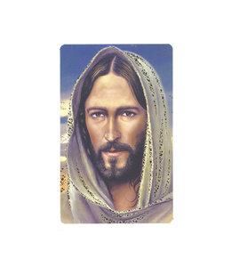 Carte avec prière en anglais, Jésus de Nazareth