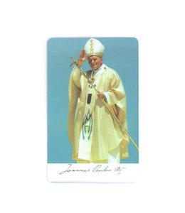 Carte avec prière en anglais, Jean-Paul II