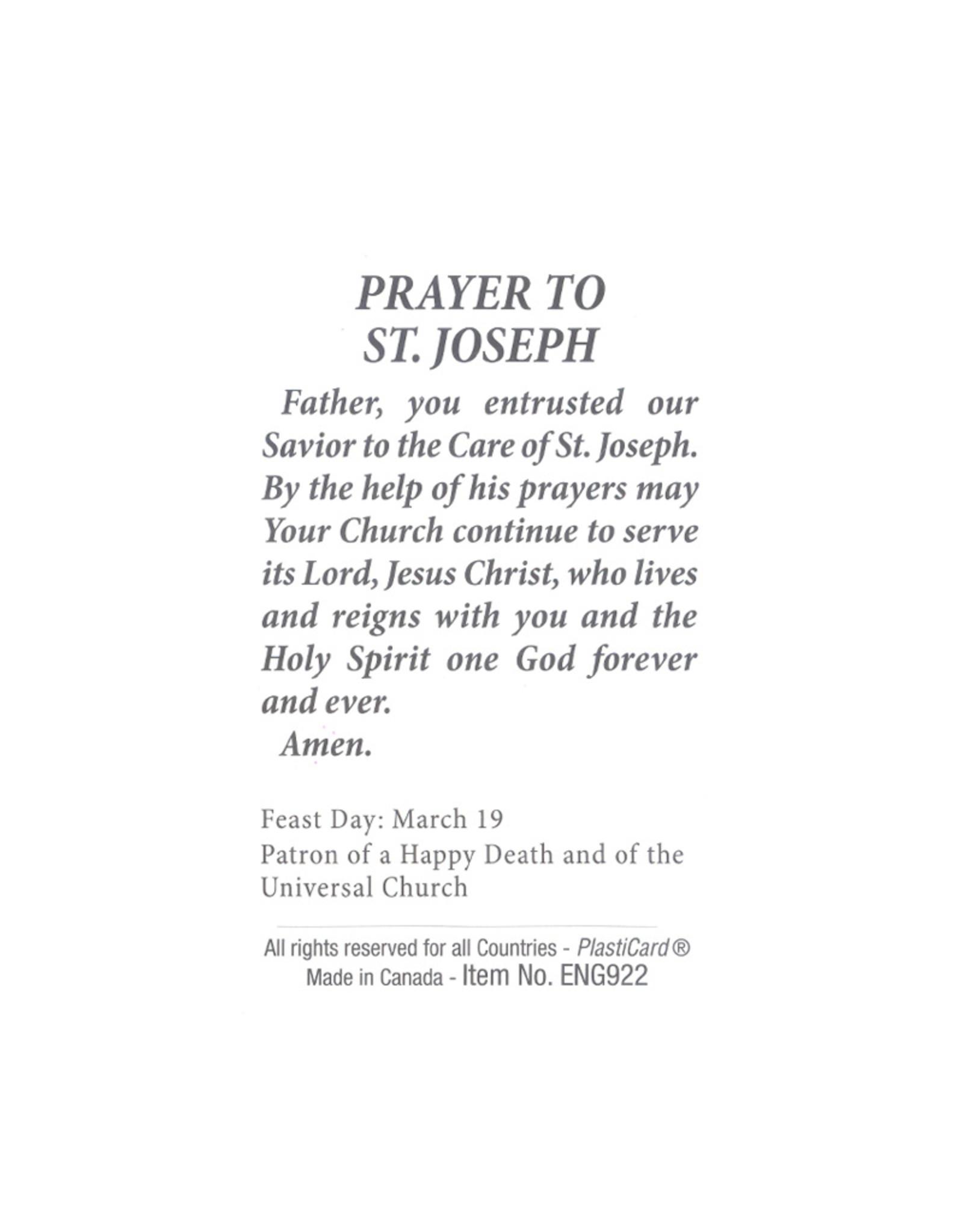 St Joseph and child icon prayer card