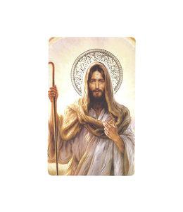 Carte avec prière en anglais, Bon Pasteur