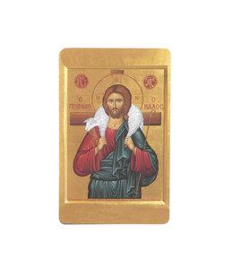 Carte avec prière en anglais, Icône Bon Pasteur