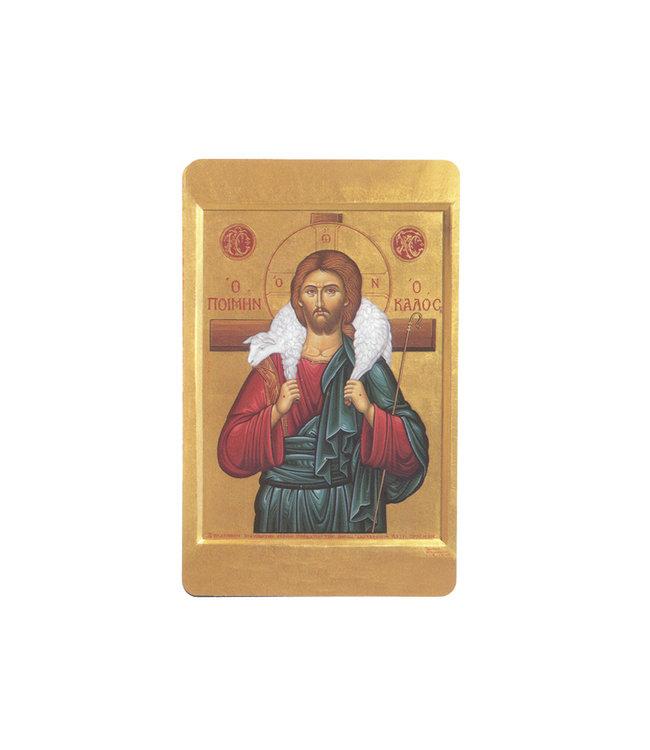 Carte avec prière en anglais, Icône Bon Berger
