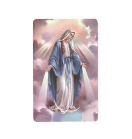 Miraculous prayer card