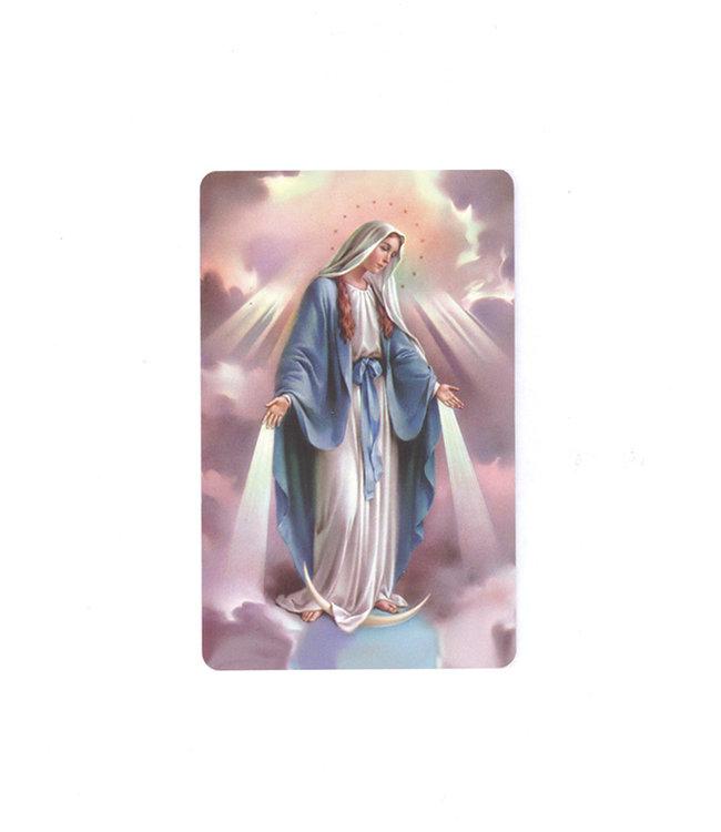 Miraculous prayer card