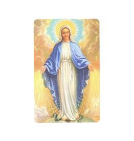 Carte avec prière en anglais, Sainte Vierge