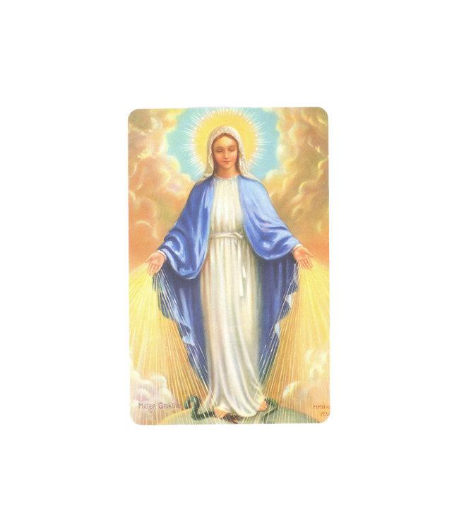 Blessed Virgin prayer card