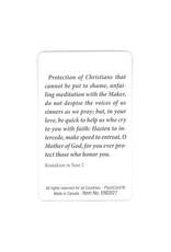 Carte avec prière en anglais, N.-D. du Perpétuel Secours