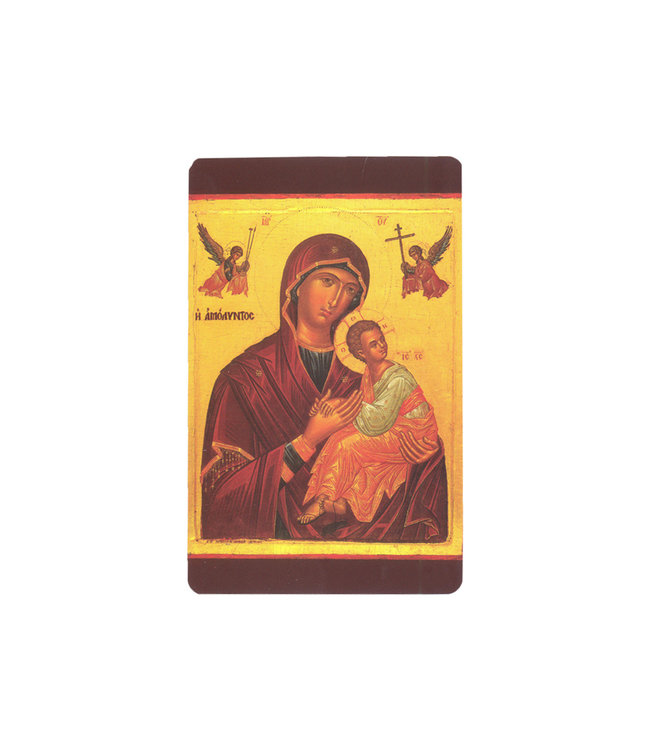 Prayer card Our Lady of Perpetual Succour