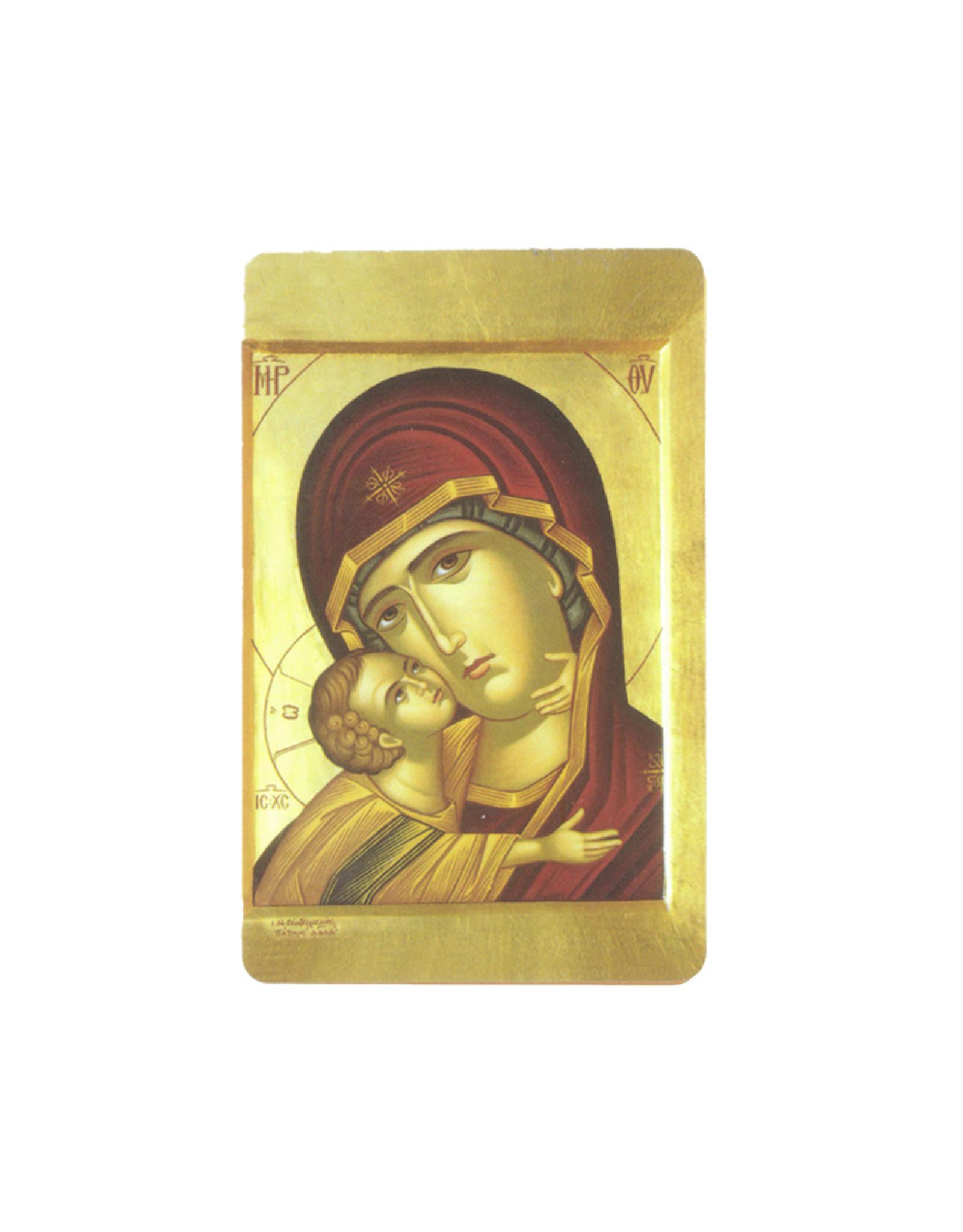Carte avec prière en anglais, Vierge de Tendresse