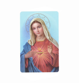 Carte avec prière en anglais, S.-C. de Marie