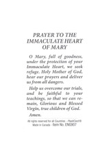 Prayer card Immaculated Heart of Mary