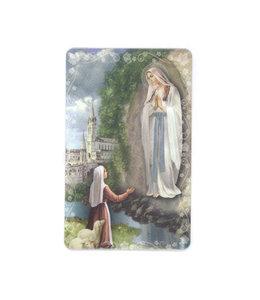 Carte avec prière en anglais, N.-D. de Lourdes