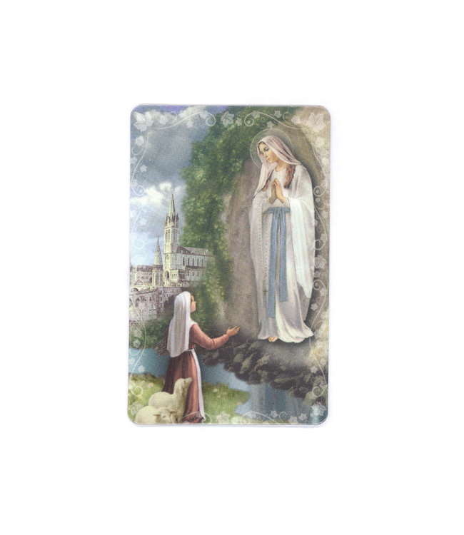 Prayer card Our Lady of Lourdes