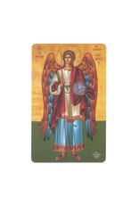 St Michael the Archangel icon prayer card