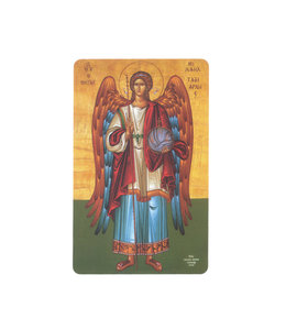 Saint Michael Archangel icon prayer card