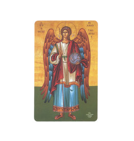Carte avec prière en anglais, Icône Saint Michel Archange