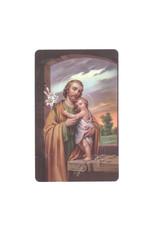 Carte avec prière en anglais Saint Joseph