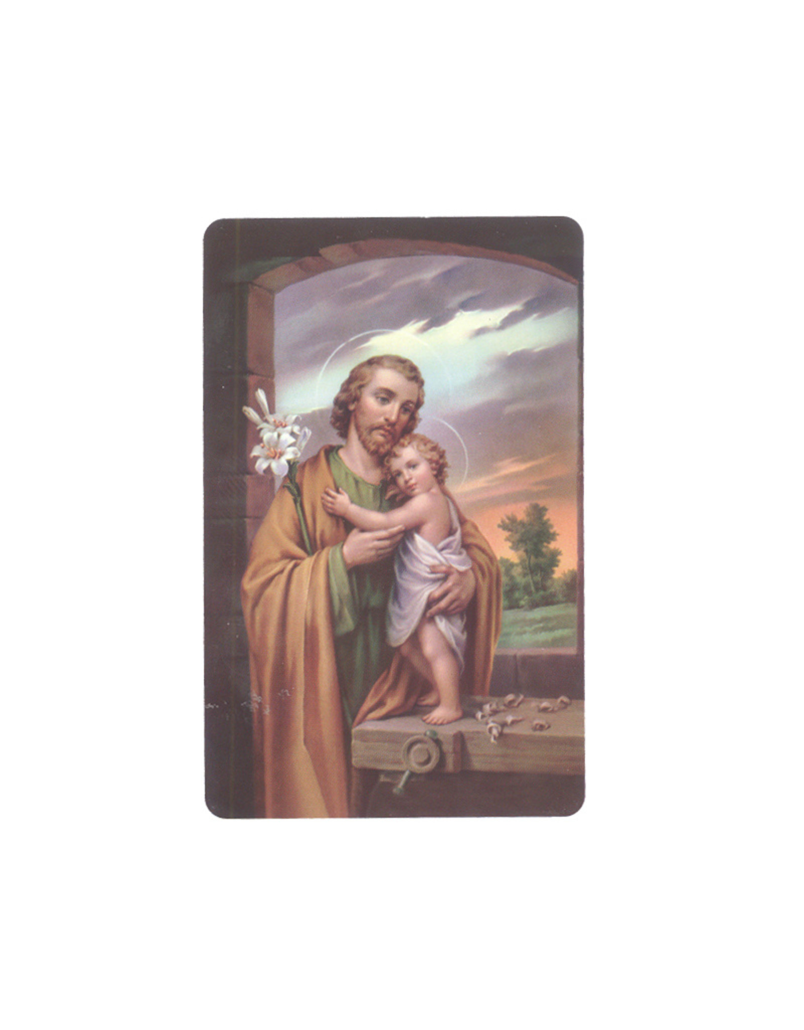 Prayer card Saint Joseph