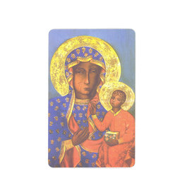 Our Lady of Czestochowa prayer card