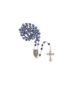 Blue Stone Finish Rosary - Our Lady of Fatima