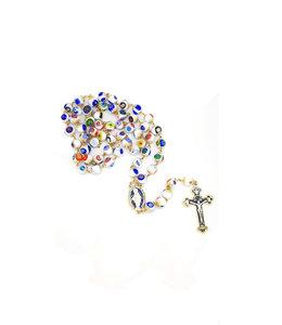 White Murano Glass Rosary