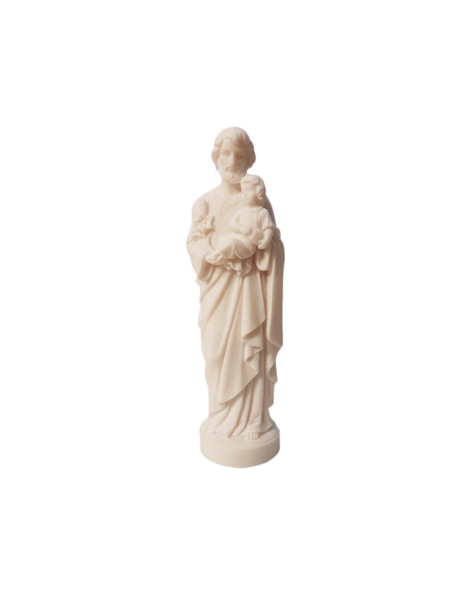 Statue Saint Joseph albâtre blanc - 17cm