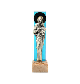 Small Saint Joseph statue with marble base