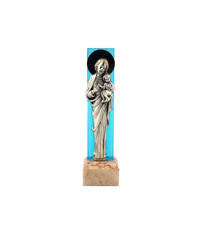 Statuette de saint Joseph avec base en marbre