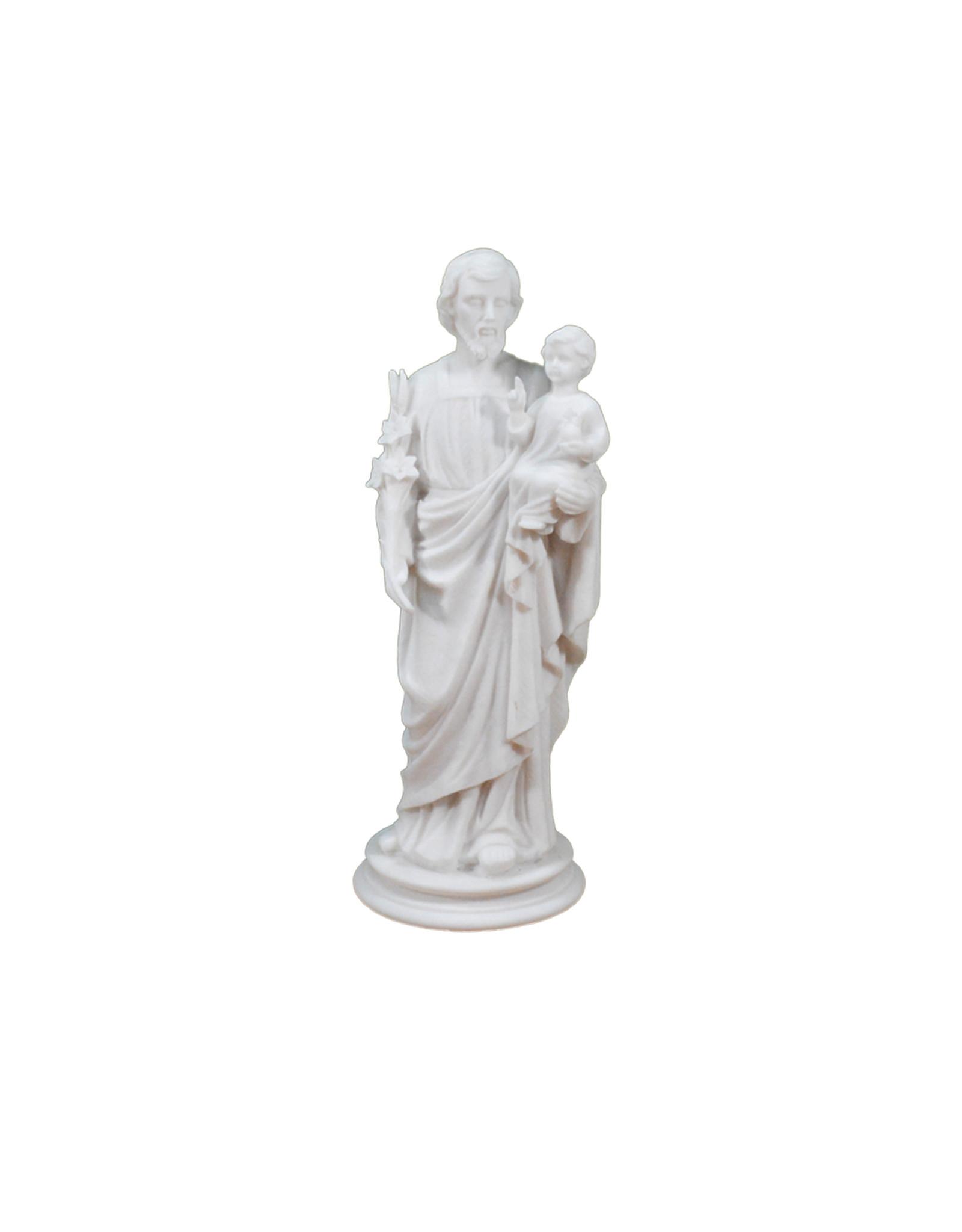 Statue saint Joseph en albâtre blanc (38cm)