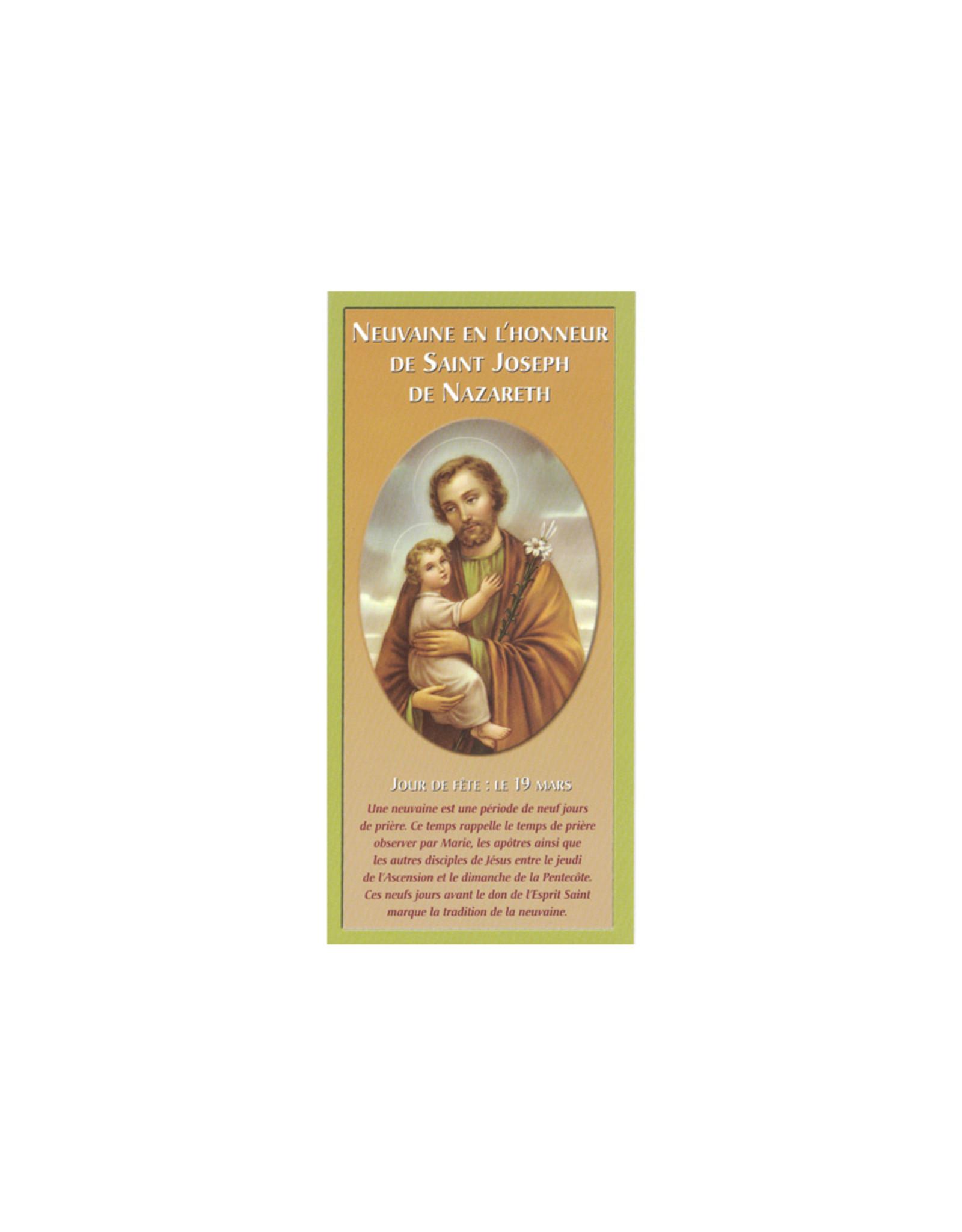 Neuvaine en l'honneur de saint Joseph (leaflet in french)