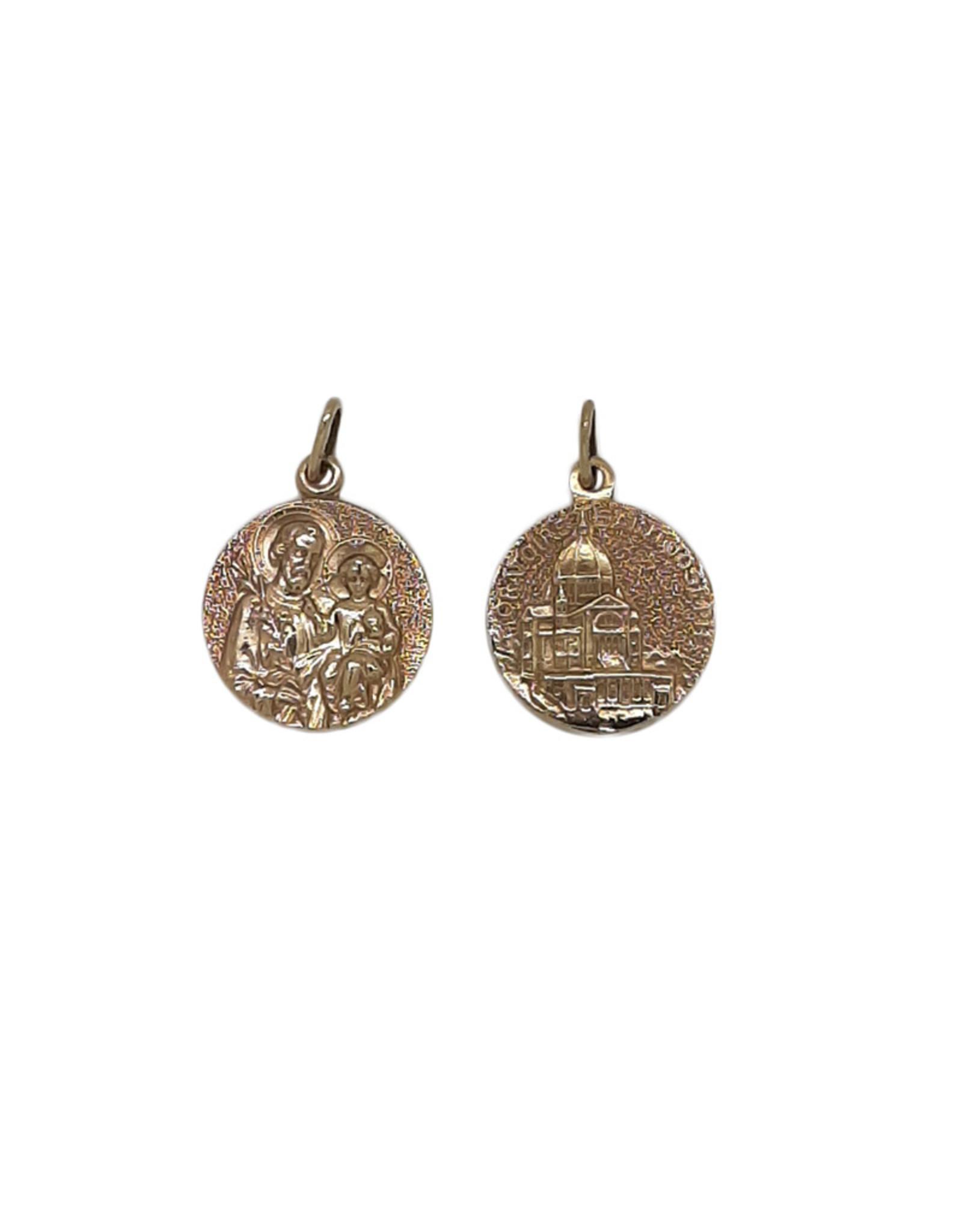 Médaille saint Joseph et Oratoire, or 18k (20mm)