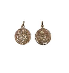 Saint Joseph and Oratory medal, 18k gold (20mm)
