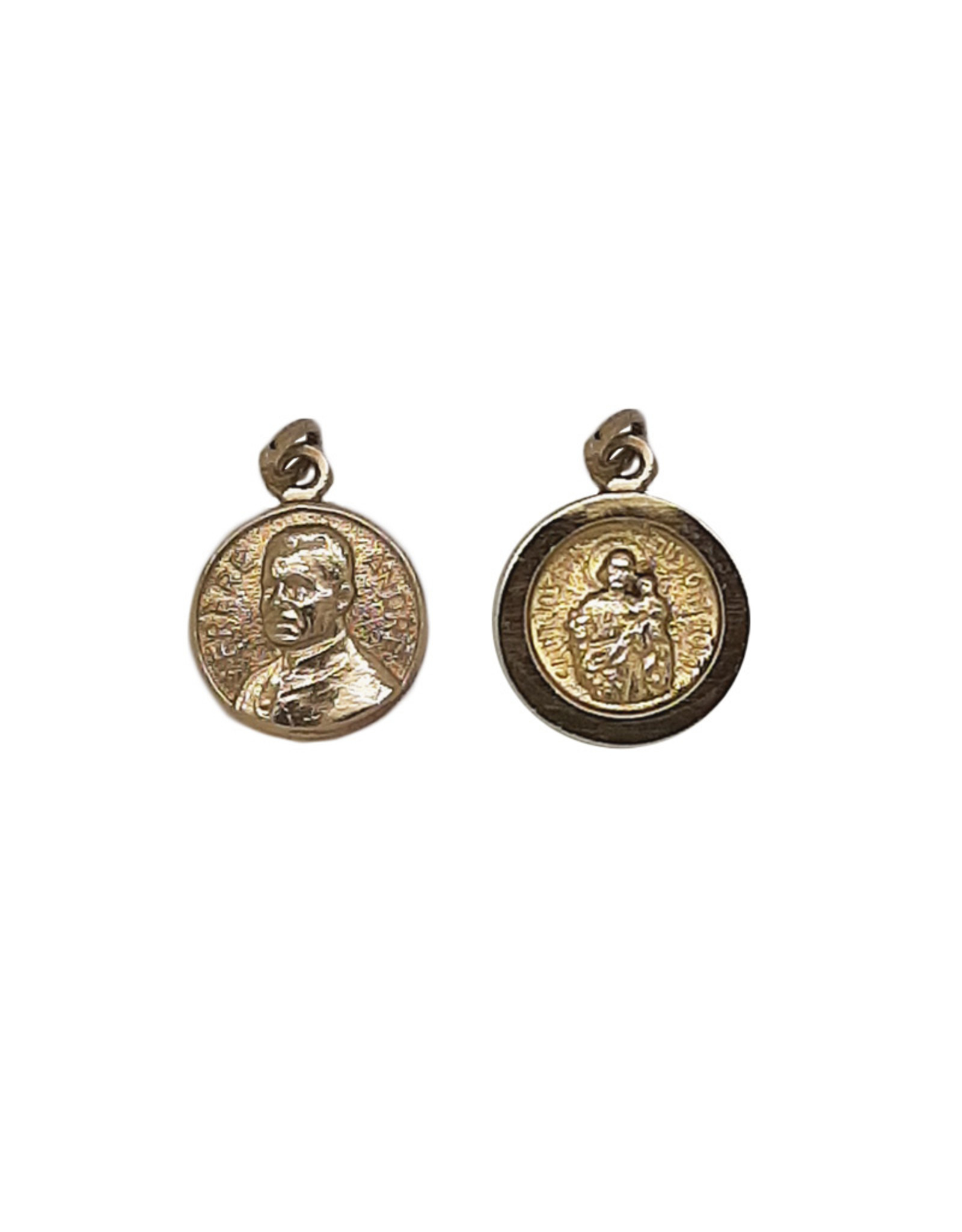 Saint Brother André / Saint Joseph medal, 10k gold (15mm)
