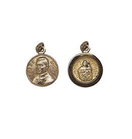 Médaille frère André / Saint Joseph, or 10k (15mm)