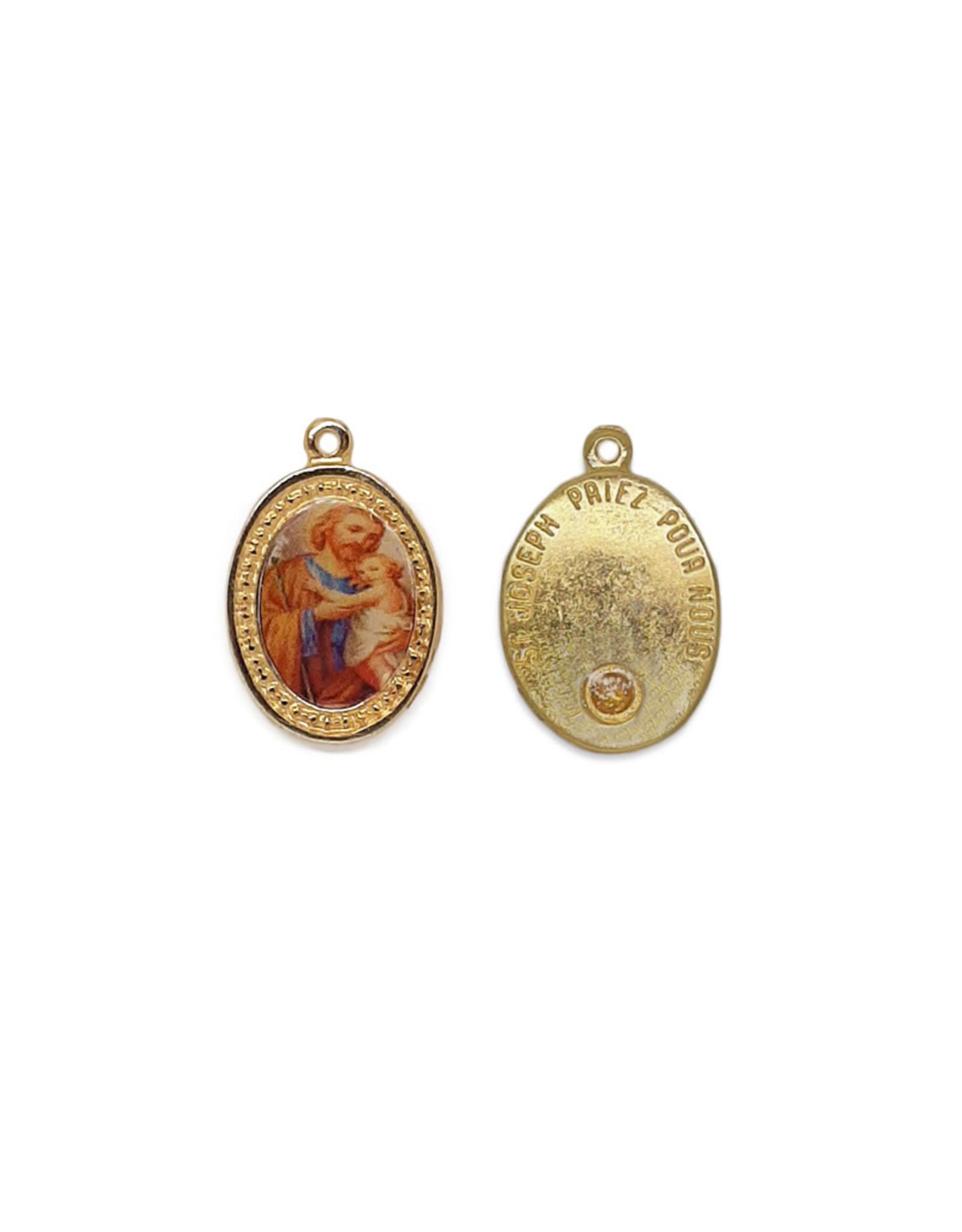 Médaille de saint Joseph avec huile