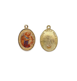 Medal of Saint Joseph with oil