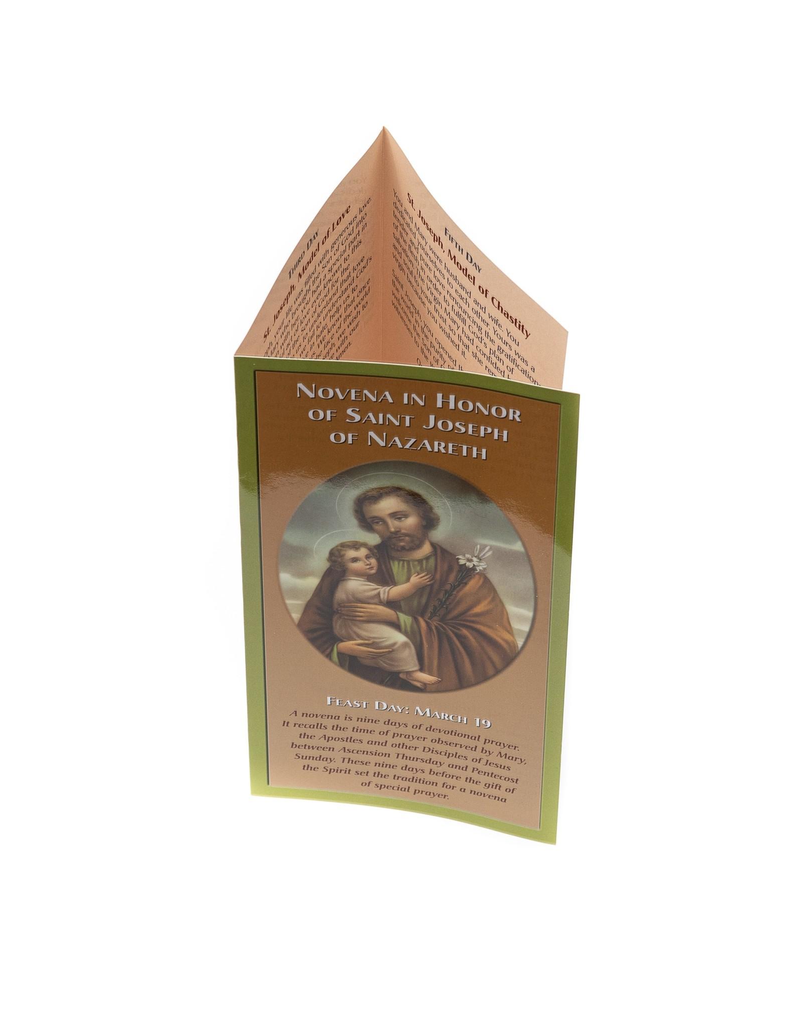 Novena in Honor of Saint Joseph of Nazareth (leaflet)
