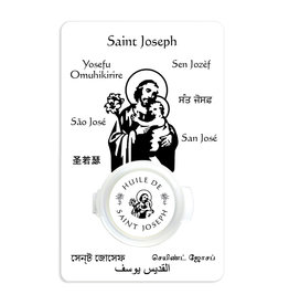 Prayer card with Saint Joseph oil (french)