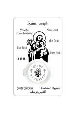 Carte prière avec huile de saint Joseph (anglais)