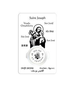Prayer card with Saint Joseph oil