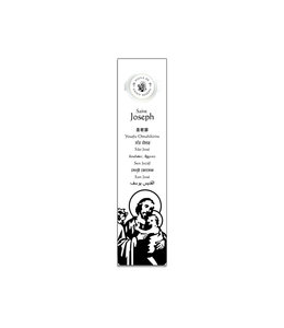 Bookmark with prayer and Saint Joseph oil (french)