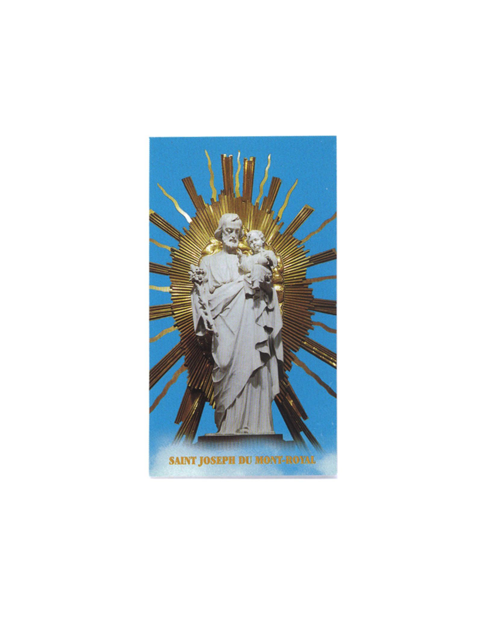 Image saint Joseph  de la crypte avec prière