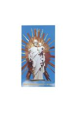 Image saint Joseph  de la crypte avec prière (anglais)