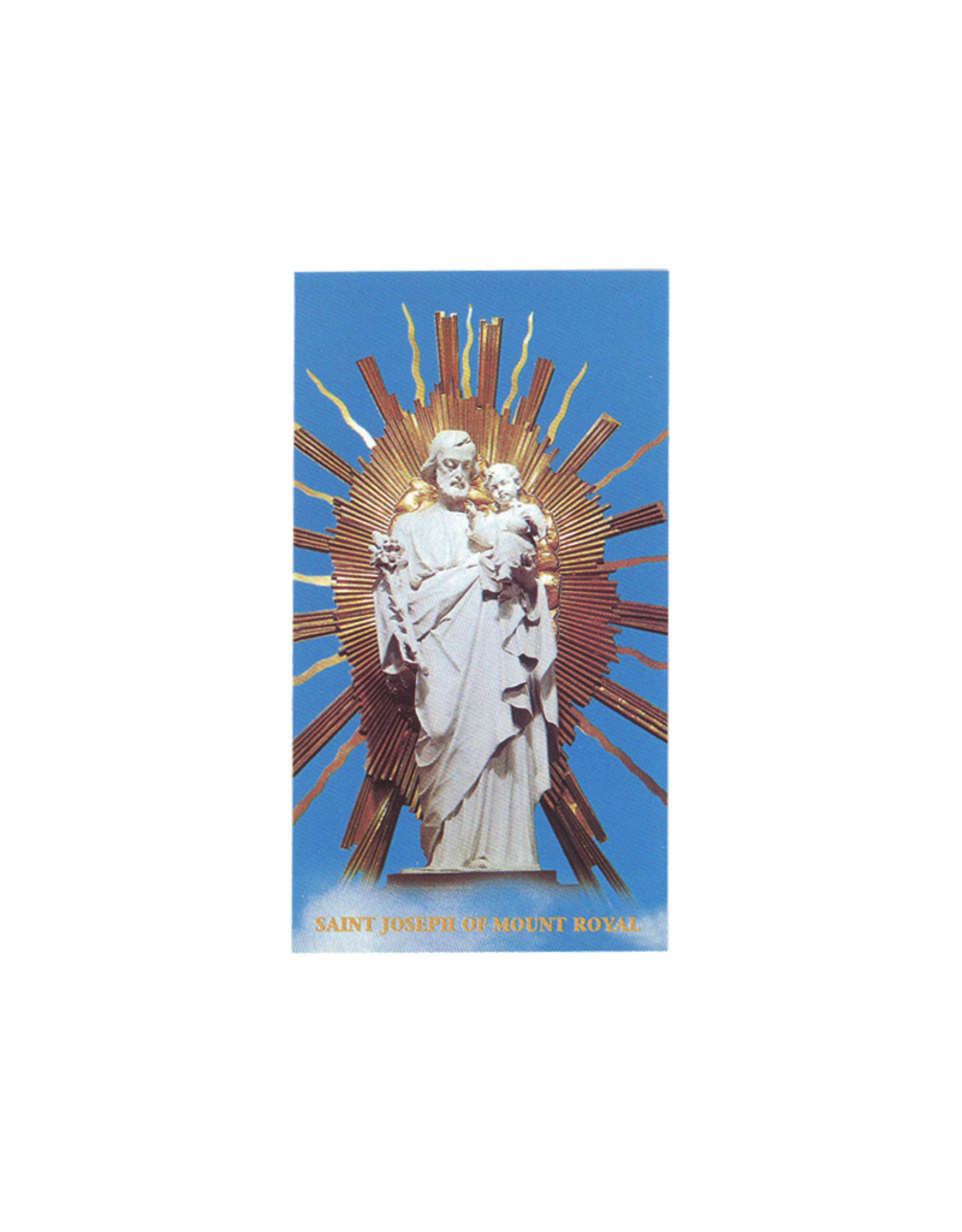 Image  with prayer, Saint Joseph of the crypt statue