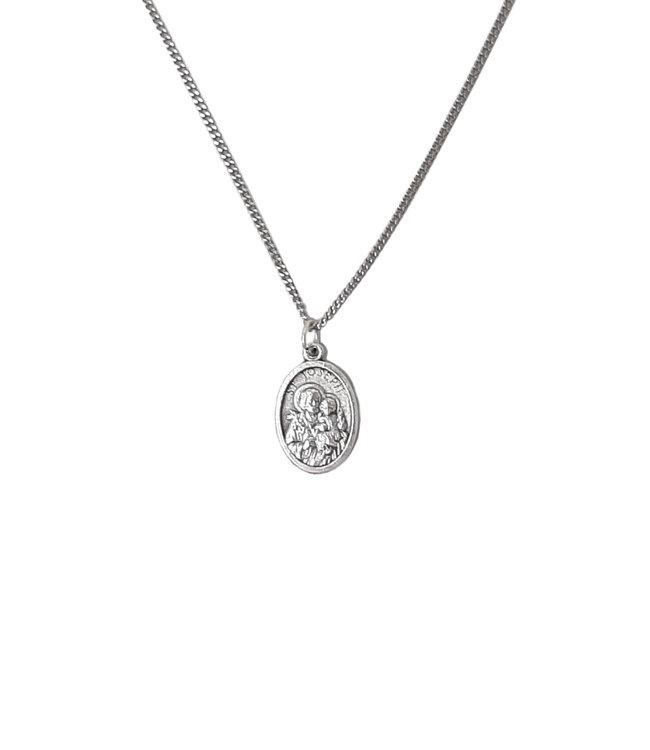 Saint Joseph medal pendant and chain - with prayer card