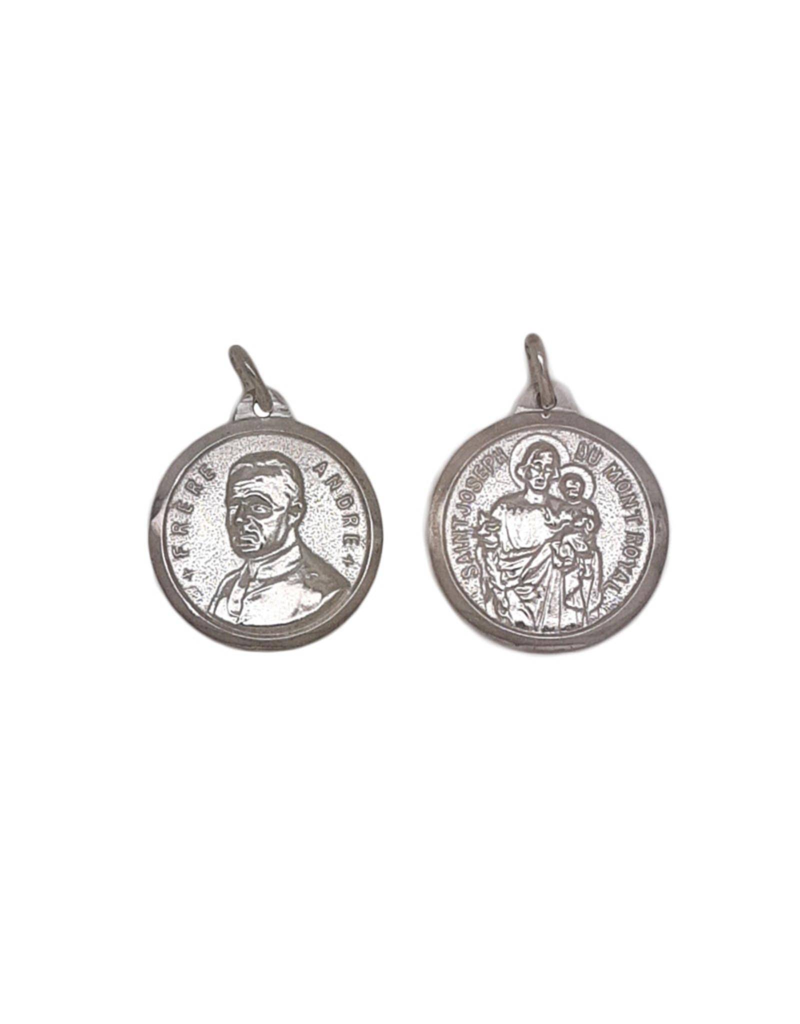 Saint Brother André / Saint Joseph medal, sterling silver (25mm)