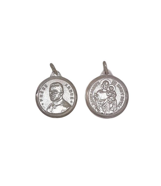 Médaille frère André / Saint Joseph, argent 925 (25mm)