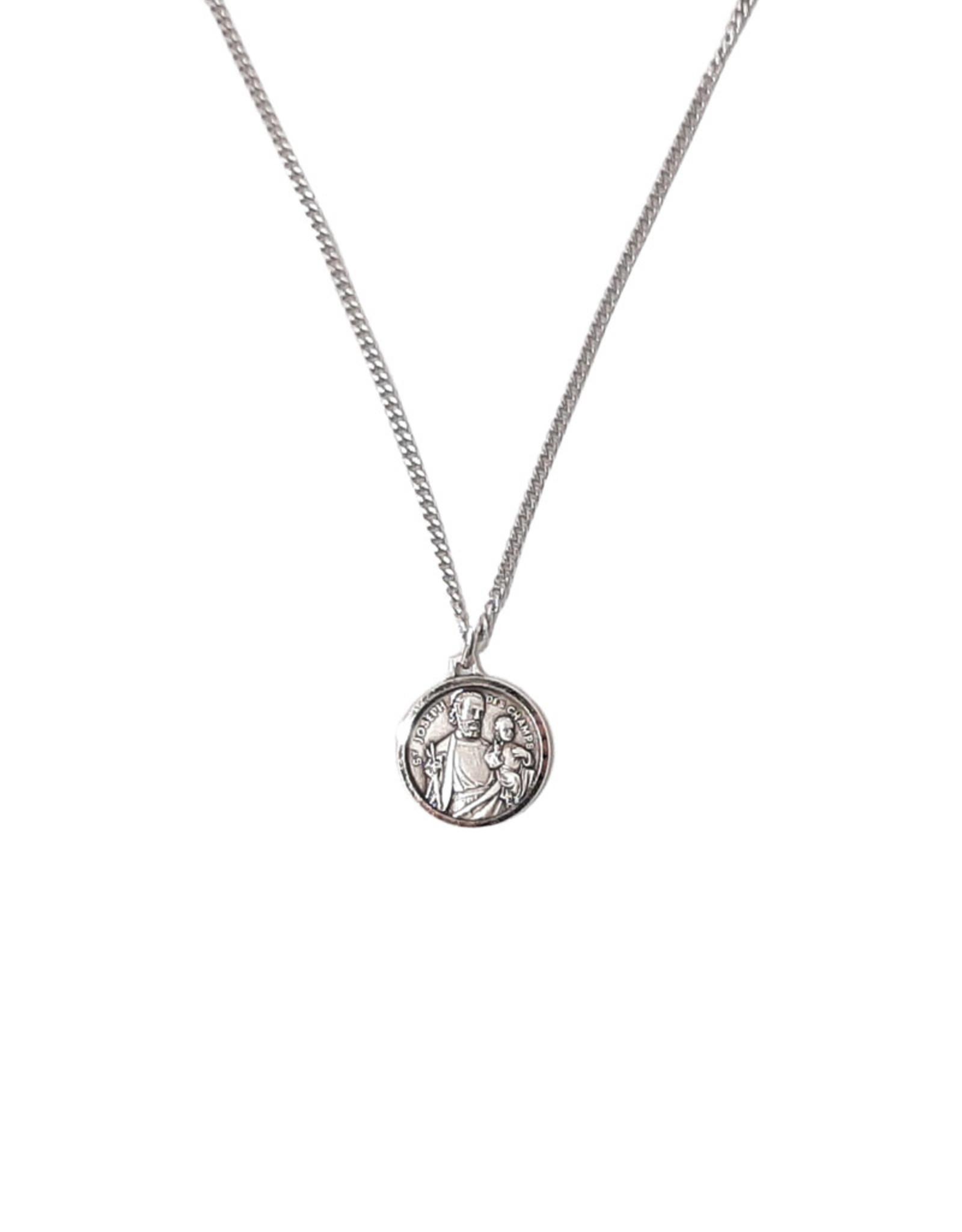 Pendentif : médaille de Saint Joseph et chaîne