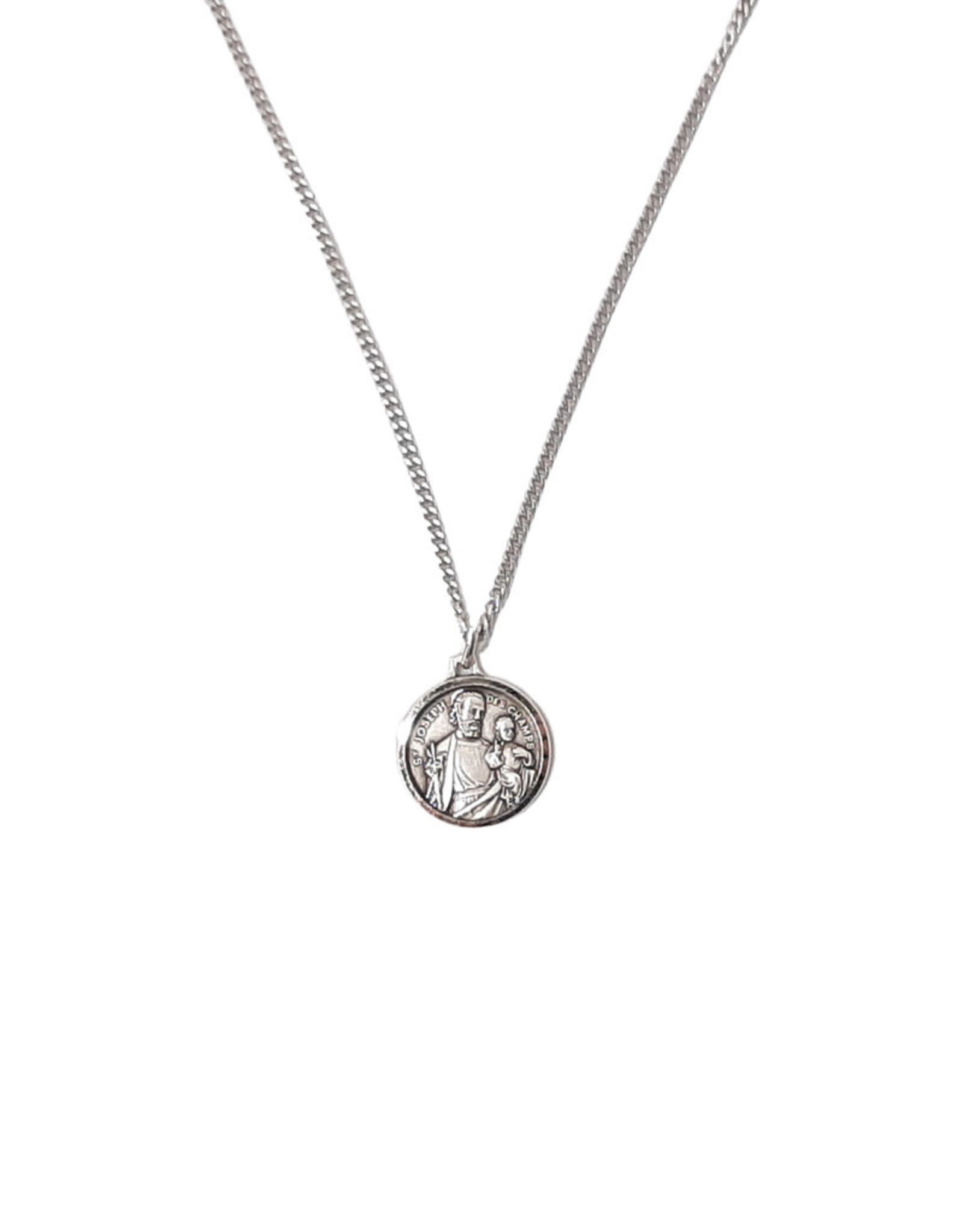 Saint Joseph medal pendant and chain