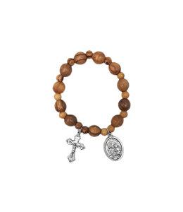 Bracelet saint Joseph en bois d'olivier